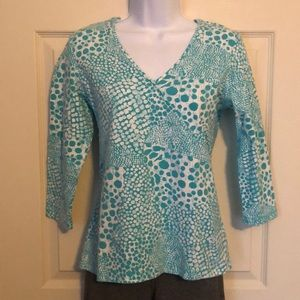 Ruby Rd. Faux wrap top. Size small